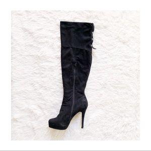 Marc Fisher OTK Knee High Suede Zip Up Boots 9.5